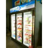 Best Upright 3 Door Freezer Showcase / Glass Door Freezer Auto Defrost R404a Refrigerant wholesale