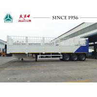 China White Color 40 Feet Fence Cargo Trailer , High Side Wall Trailer With 3 Axle on sale