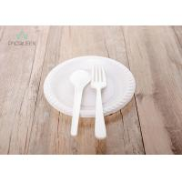 China Sturdy Eco Friendly Disposable Plates Cutlery , To Go Utensils PLA Color on sale