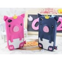 China Silicon Gel Cute Crown Pig Case for iPhone 5 on sale
