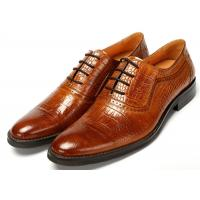 Cheap Contemporary Crocodile pattern Classic Dress Shoes Lace Up Oxfords Absorbent Sweat for sale