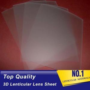 Best 161 Lpi 51X71CM Lenticular Lens Film 0.25mm PET 3D Sheet Lenticular Lenses material for 3d lenticular printing service wholesale