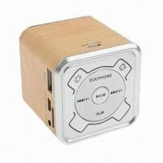 Best Mini Wood Grain Multifunction Hidden LCD Screen Display Speaker, Supports FM Radio/TF Card/U-disk wholesale