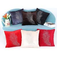 Best Custom Logo 3 Colors Soft Velvet Cushion Cover With Diamond Square Pillowcase wholesale