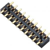 Best 2.00mm Female Header Connector Double Row SMT PA9T Black  Board to Wire connection wholesale