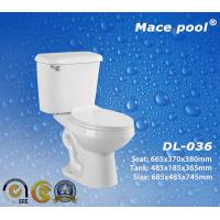 Best Siphonic S-trap Sanitary Wares Two-Pieces Toilets for Bathroom (DL-036) wholesale