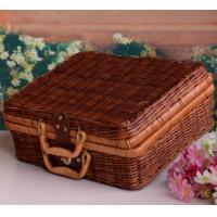 Best Outdoor Natural Rattan Picnic Basket wholesale