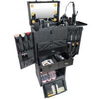 Best Professional Rolling Studio Makeup Case With Lights Collapsible Compartments wholesale