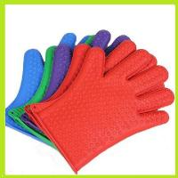 China colorful silicone finger glove oven mitts heat resistance glove with small hearts on sale