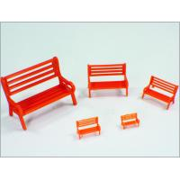 Best Y30-01 1:30 Custom Scale Model Train Layouts Red Plastic 3D Park Chairs wholesale