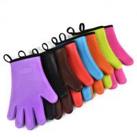 Best Lifetime Warranty Insulated Waterproof Wrist Protection Silicone BBQ Grilling Gloves wholesale