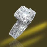 China Wedding Engagement Rings 925 Silver Square Zirconia Rings (RSA3323) on sale