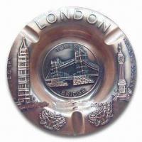 Best Promotional London Ashtray, Made of Alloy, Available in Various Sizes and Colors wholesale