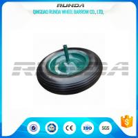 China Square Pattern PU Foam Wheel 100-200KG Load , Hand Dolly Wheels 4.00-8 Solid Axle on sale