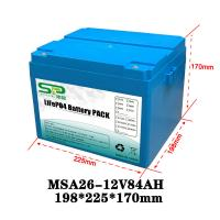 Best Li Polymer LiFePO4 12 Volt Lithium Battery Pack for Home Solar Energy System wholesale