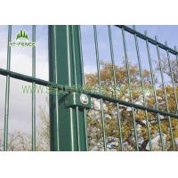 Best Black Double Wire Fence / Ornamental Twin Wire Mesh Fencing For Sports Field wholesale