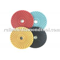China 5 6 Granite Diamond Polishing Pads Floor Velcro Backing With Round Nut on sale