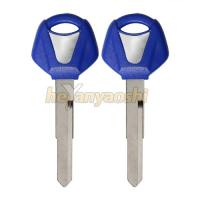 China Yamaha  Motorcycle Key Shell Blue Head Blanks Precision Milled on sale