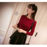 Best Korean new arriving Spring women's boat neck sweater thin sweater pullover sweater wholesale