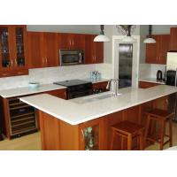 China Beige Cabinet Natural Granite Countertops Kitchen Tops Eased Edge on sale