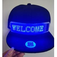 Best send message by phone bluetooth LED message cap rechargeable Fashion LED rolling message hat support gif dispaly led cap wholesale