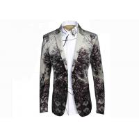 Buy cheap Nostalgic Ethnic Mens Printed Suits ,Breathable Mens Printed Blazers Big Tide from wholesalers
