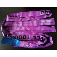 China Wll 1000kg Endless Lifting Slings , Polyester Round Slings Customized Color on sale