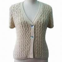 China Women's knitted cardigan sweater, customized sizes and color are accepted on sale