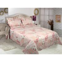 Best Floral Pattern Printed Quilt Set Microfiber / Cotton Fabric For Bedroom wholesale