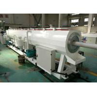 China Hdpe / Pvc Plastic Pipe Manufacturing Machine , Capacity 300kg / H Pvc Pipe Extrusion Machine on sale