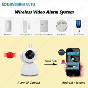 Best RF433 sensors linkage alarm wireless wifi sd card recording ip dome camera wholesale