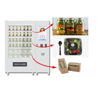 Best Refrigerated Automatic Fruit Fresh Salad Vending Machine 22 Inch Advertising Screen wholesale