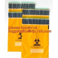 Best Shield Autoclavable Biohazard Bags , Biohazard Waste Bags With Pocket Medical Specimen wholesale