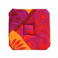 Best Waterproof printed chair cushion with polyester cover and sponge filling, soft chair pad wholesale