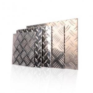 Best 600 - 2000mm Width Aluminium Checker Plate Five Bar Tread Sheet For Boat Lift wholesale