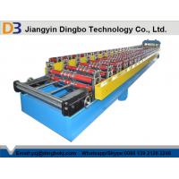 China Touch Screen Roofing Corrugated Sheet Roll Forming Machine With Hydraulic Cutting on sale