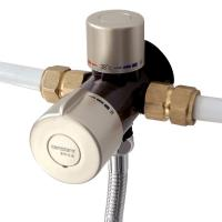 Buy cheap 3 Way Thermostatic Mixing Valve 1/2'' Brass Solar Shower System Anti Cold Shock from wholesalers