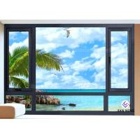 Best Vertical Opening Pattern Aluminum Casement Windows With Security System wholesale