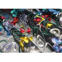 Buy cheap Fancy Multi Colored Floral Embroidered Lace Fabric 120 CM Polyester from wholesalers