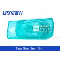 Best Green / Blue / Red Mini Correction Tape In Blister Card 5mm * 6m wholesale