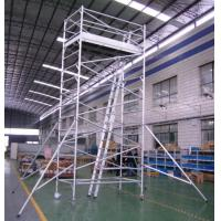 Best Painting Plastering Safety Adjustble Aluminium Mobile Scaffold / Mobile Scaffolding Tower wholesale