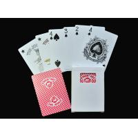 Best Family Entertainment Game Poker Playing Cards , Plastic or Paper Poker Card Deck wholesale