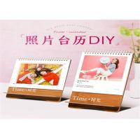 China Full Coloring Printing Paper Desk Calendar With Wire Binding , Spiral Binding on sale