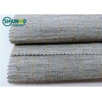 Best Polyester Mixed Horsehair Interlining Canvas Hair Lining For Men Uniform Suits wholesale