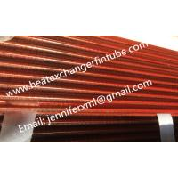 Buy cheap Tension Wound Single Row Flat Fin Tube For Air Cooled Condenser product