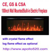 Buy cheap 100Inch Wall Mounted/Built-in Electric Fireplace from wholesalers