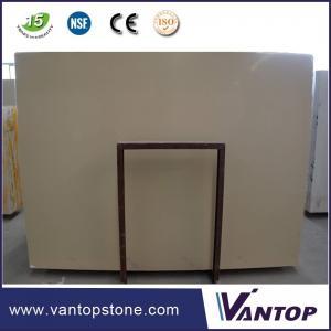 Best 18mm Prime Beige Artificial Marble Stone Slab for Bathroom Countertop wholesale
