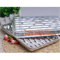Best disposable roasting aluminum foil BBQ pan,Foil BBQ grill pan with hole Turkey pan Outdoor Barbecue roaster tray for food wholesale