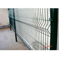 China PVC / Galvanized Welded Weld Mesh Fence Panels Triangle Bending Type on sale