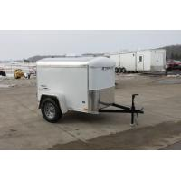 China 750kg Capacity 7x4 Single Axle Furniture Van Trailer / Fully Enclosed Cargo Trailers on sale